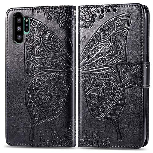 HH-Phone Case - Funda para Galaxy Note10 Pro (con tarjetero, ranuras para tarjetas, cartera y cordón (azul)