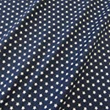 Stoff Baumwollstoff Baumwolle Sterne marine blau dunkelblau