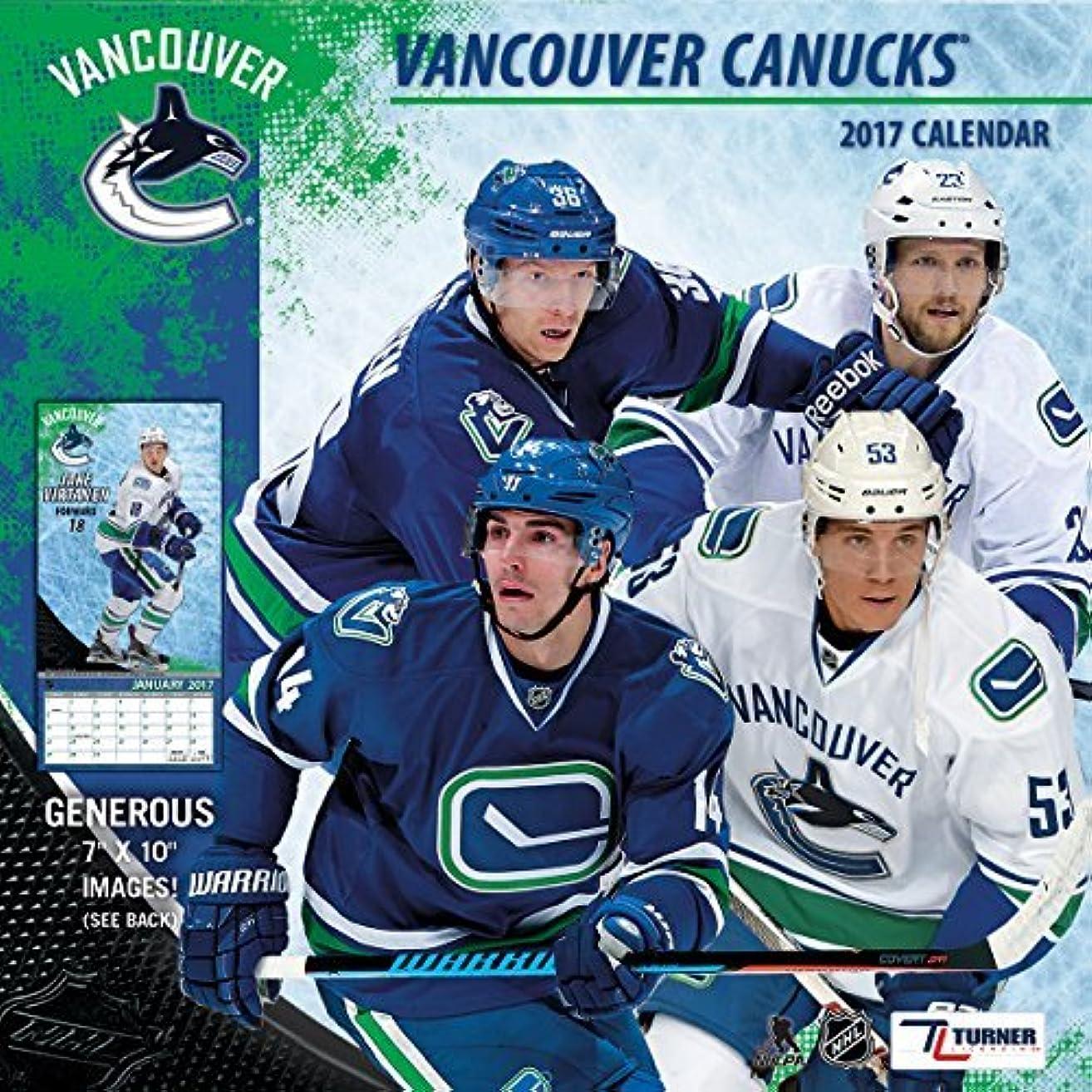 アーチ販売計画注意Turner Licensing Sport 2017 Vancouver Canucks Mini Wall Calendar (17998040590) [並行輸入品]