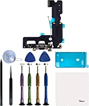 Vimour Charging Port USB Dock Connector with Microphone and Signal Antenna Cable Assembly Replacement for iPhone 7 Plus 5.5 inches with Premium Toolkit and Screen Adhesive Tape (Black with Tools)