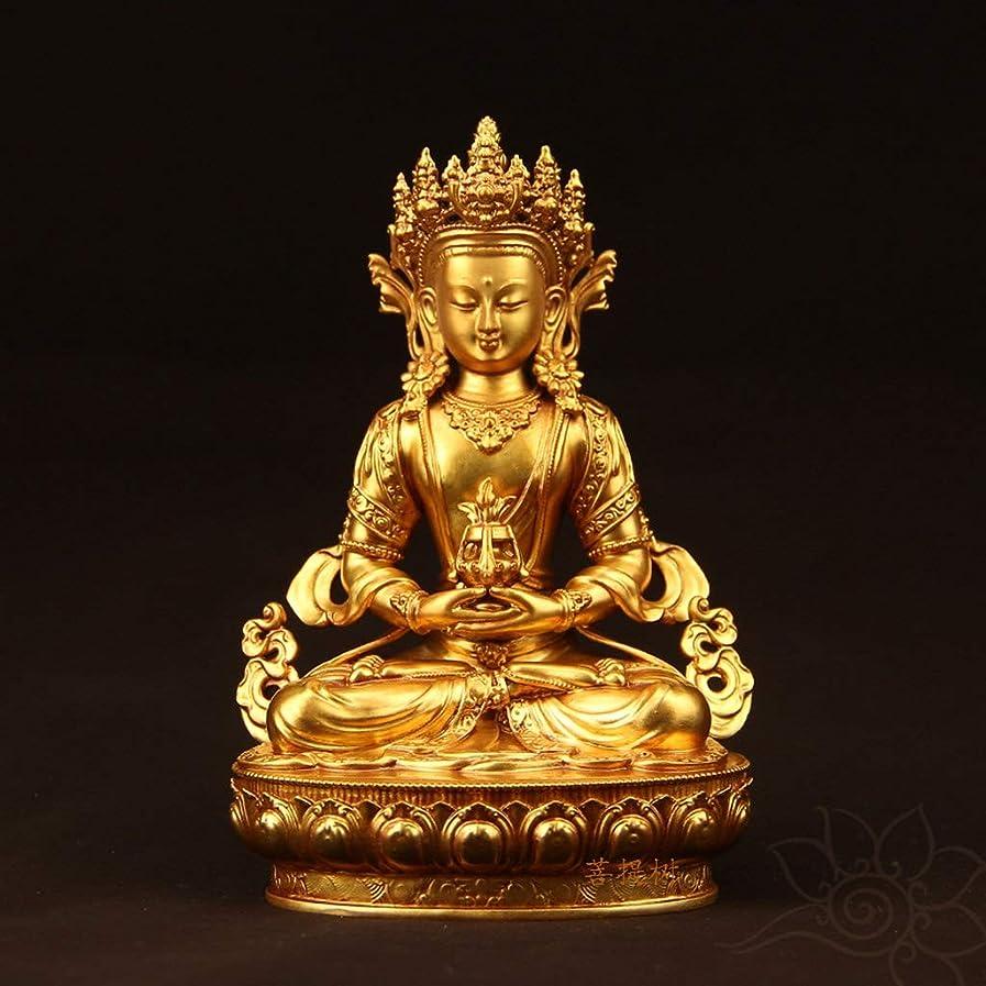 毎月メンテナンス概してNTWXY 純粋な銅仏像、家の崇拝仏像、非常に良い出来映え、丈夫、掃除が簡単、10.5×7.5×15cm