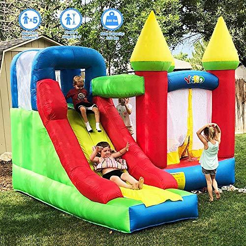 LIUCHANG Casa Hinchable con el Castillo de Salto Inflable de la Diapositiva for los niños con el soplador (11.5'x 9.8'x 8.9 ') liuchang20