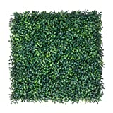 U-MAX 12PCS 20x20inch Artificial Boxwood Hedges Panels,Outdoor Topiary Hedge Plant,UV Protected Faux Grass Wall Greenery Mats for Outdoor and Indoor, Garden, Fence, Backyard, Green