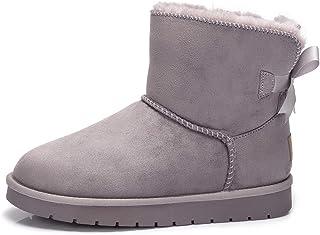 [CAMEL CROWN] ムートンブーツ レディース スノーブーツ ブーツ 裏起毛 暖かい 防寒靴 スエード 厚底 ボア ファー付き ふわふわ 人気 カジュアル 滑り止め おおきいサイズ アウトドア