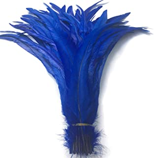 Shekyeon 13-16inch 33-40cm Rooster Coque Tail Feather for Costume Decoration Pack of 20 (Royal Blue)