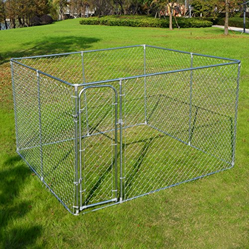 Giantex Large Pet Dog Run House Kennel Shade Cage...