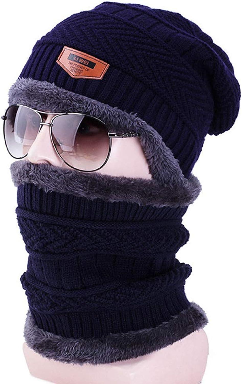 Knit Hat Female Winter Korean Street Wind Hat Bib Fashion Cap Men's Line Cap