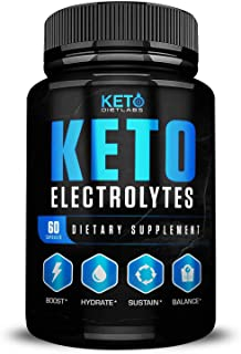 Keto Electrolyte Supplement Advanced Pills - Perfect for Keto Max Results - Electrolyte Powder for Hydration and Energy- Packed with Magnesium, Potassium, Sodium & Calcium - Low Carb Weight Loss Diet