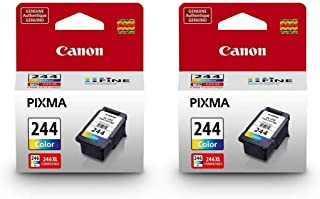 Canon 2 Pack CL-244 Color Ink Cartridge for PIXMA MG & MX All-in-One Inkjet Printer - 6.2ml