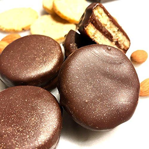 Eat to Fit True Love zuckerfreie Mandeln Kekse - Box 12er. Dulce de Leche - Schokolade Nougat - Diabetiker Schokoladen