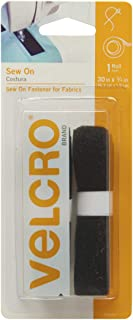 VELCRO Brand For Fabrics | Sew On Fabric Tape for Alterations and Hemming | No Ironing or Gluing | Ideal Substitute for Snaps and Buttons | Tape, 30in x 3/4in, Black
