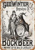 冬ボックボックビールメタルサイン