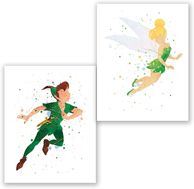 Disney Tinkerbell Fairy Cartoon Peter Pan Movie Wall Art Canvas Pictures