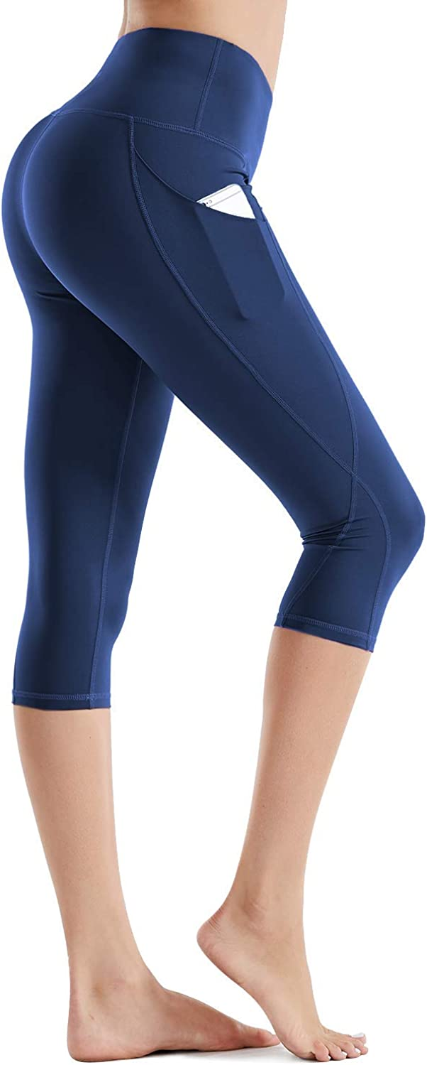 Rocorose High Waist Yoga Pants Popular products Pocket Capris Tummy C with Max 61% OFF