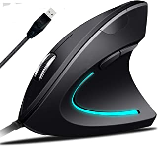 Ergonomic Mouse High Precision Optical Vertical Mouse Adjustable DPI 800/1200 / 2400/3200 Wired Computer Mouse