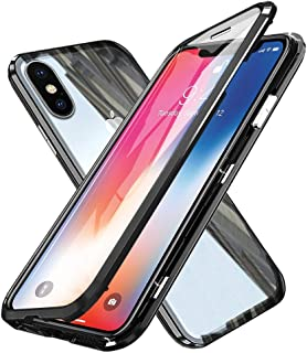 Compatible for iPhone X/XS Flip Case Magnetic Adsorption Technology Ultra thin 360 Degrees Fully Body Screen Protective Ca...