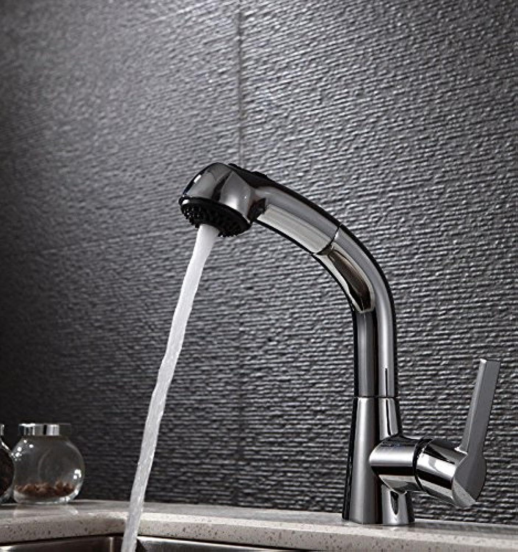 QIMEIM Küchenarmatur Wasserhahn Küche Modernes Messing kalt hei Mischbatterie Küchenwasserhahn Spültischarmatur Spülbecken Armatur