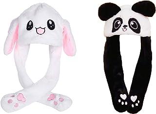 Mein HERZ 2 Pz Simpatico Cappello di Coniglio Cappuccio Orecchie da Coniglio Stile di Panda di Coniglio della Ragazza Il M...