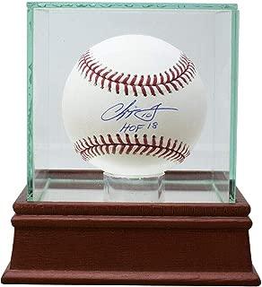 Chipper Jones Signed Ball - HOF INSC w UV Glass Case - JSA Certified - Autographed Baseballs
