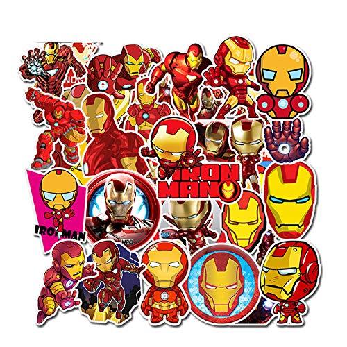 YUNDD Iron Man-Graffiti-Aufkleber für Laptop-Mäusemotorrad-Skateboard-Gitarren-Gepäck-Nette Art-Aufkleber 35Pcs / Pack