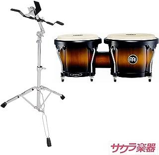 MEINL Percussion マイネル ボンゴ Headliner Series Wood Bongo HB100/VSB Vintage Sunburst サクラ楽器オリジナル ボンゴスタンドセット