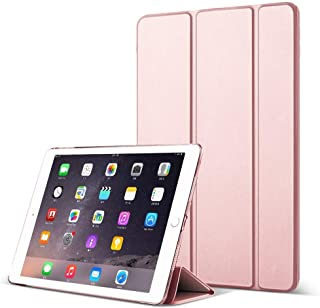DuraSafe Case for iPad PRO 12.9 Inch 2 Gen - 2017 [ A1670 A1671 ] Tri Fold Smart Cover with Translucent Back, Auto Sleep/Wake - Rose Gold