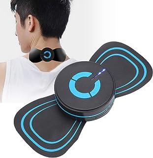 Masajeador de cuello de microcorriente, masajeador de hombros eléctrico EMS, 6 modos y 6 parches adhesivos de masaje de intensidad TENS, para espalda, cuello, muslo, brazo, hombro, cervical(A)