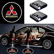 MIVISO Proyector LED para automóvil, Luz de sombra de 2 piezas para puerta de automóvil, Lámpara de logotipo universal con sensor magnético inalámbrico universal