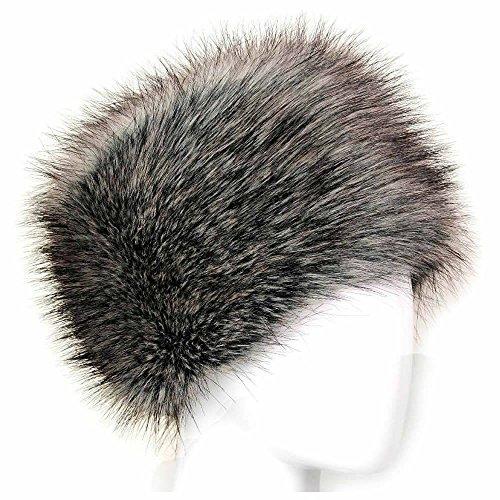 maxgoods Künstlich Faux Pelz Kosaken Russisch Stil Winter Hut Grau
