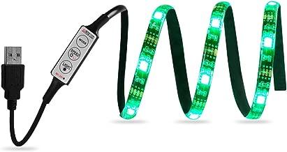 USHAWN Bias Lighting for TV 5V USB Led Strip Lights Kits SMD 5050 Waterproof with Mini Dimmer 3 Keys Light Controller Multi Color RGB 18 LEDs 23.6 inch Valentine Decoration(60cm)