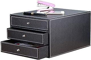 MTYLX Cabinet de Fichiers/Rack, Armoire A4 Armoire 3 Tiroirs de Bureau de Bureau de Bureau de Bureau de Stockage En Cuir 3...