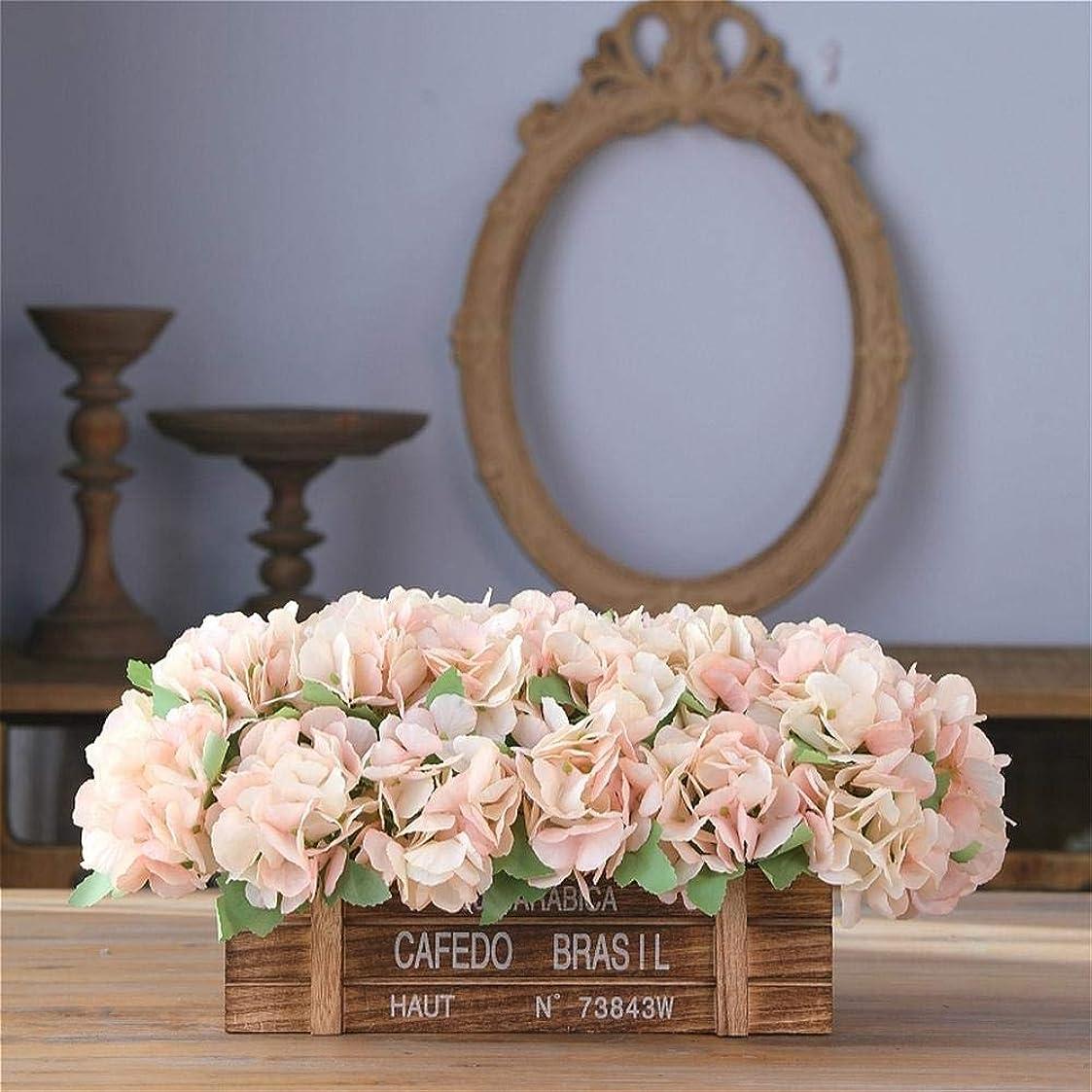 私また明日ね慈悲造花リビングルームベッドルームパーティーダイニングテーブルウィンドウ敷居結婚式の装飾木製フラワーポットホリデーギフトミニ鉢植えピンクの花