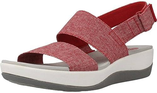 Clarks Sandales, Couleur Rouge, Marque, modèle Sandales Sandales Sandales ARLA Jacory Rouge bc3