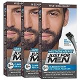 Just For Men Mustache & Beard #M 55 Real Black Color Gel (3 Pack)