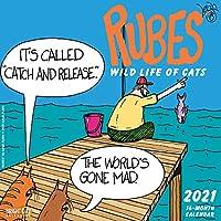 Bright Day Calendars 2021ルーブウォールカレンダーバイブライトデイ、12 x 12インチ、ユーモアジョーク笑面白いノベルティコミックストリップ(猫) 猫