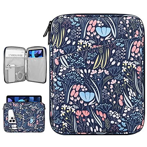 Dadanism 9-11 Pulgadas Funda Blanda para Tablet, Impermeable Bolsa para Tableta para iPad 10,2 2020/2019, iPad Pro 11 2018-2021, iPad Air 4 10,9 2020, Galaxy Tab A7 10,4/Tab S6 Lite, Noche Azul