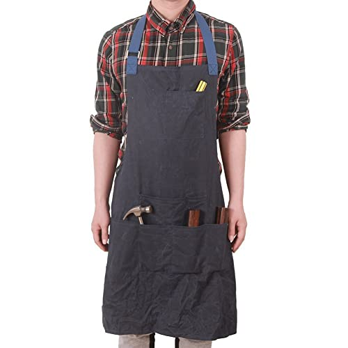 1dce78df HENSE Unisex Heavy Duty Waxed Canvas Work Apron With Waterproof Function,  Soft and Ventilated Suit