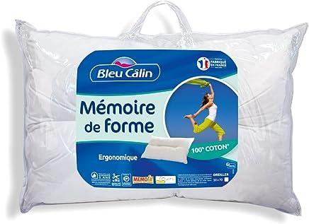 Amazon.fr : oreiller 50x70 - Bleu Calin /