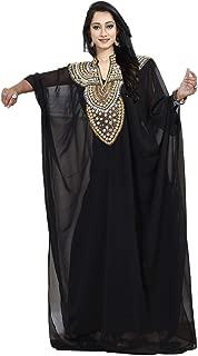 Women wear Dubai Kaftan Farasha Long Maxi Dress Abaya Tunic top Bellydance