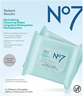 No7 Radiant Results Revitalizing Cleansing Wipes60sheet 1 pack