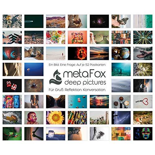metaFox | Original | Postkartenset mit 52 Karten für Freundschaft und Coaching