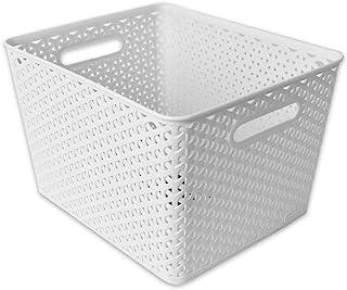 TE-Trend Panier Rangement Boîte Panier en Osier Boîte de Conservation Rangement Boîte Décorative Aspect Rotin Ordnungsbox ...