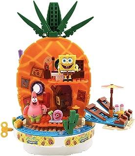JAMOR Pineapple Music House Spongebob Squarepants Set Model Educational Toys Furniture Decoration Gary Patrick Star (Pineapple House)