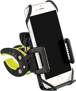 MUSON (ムソン) 自転車ホルダー バイクホルダー バイクスタンド スマホ・携帯固定用マウントキット GPSナビ用 iPhone Android多機種対応 360度回転 脱落防止 BH1