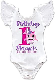 Baby Shark Girls Personalized Birthday Leotard