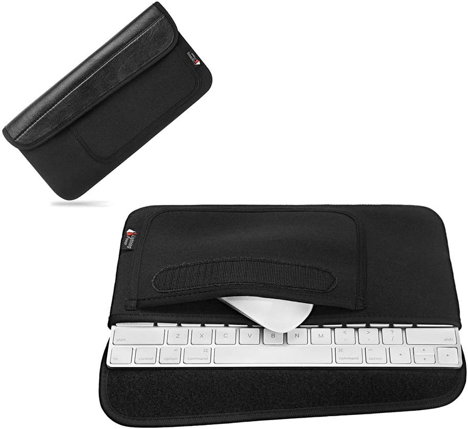 Hosoncovy Waterproof and Dustproof Carrying Case Travel Case Storage Bag Protective Case Organizer Holder with Mouse Holder Bag Keyboard Sleeve for Apple Wireless Bluetooth Keyboard 2 and Mouse