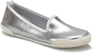 CS18091 Gümüş Kadın Slip On Ayakkabı