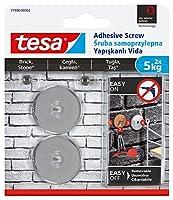 Tesa 77906–00002–00ラウンドリムーバブル粘着Screw for Roughサーフェス–クローム