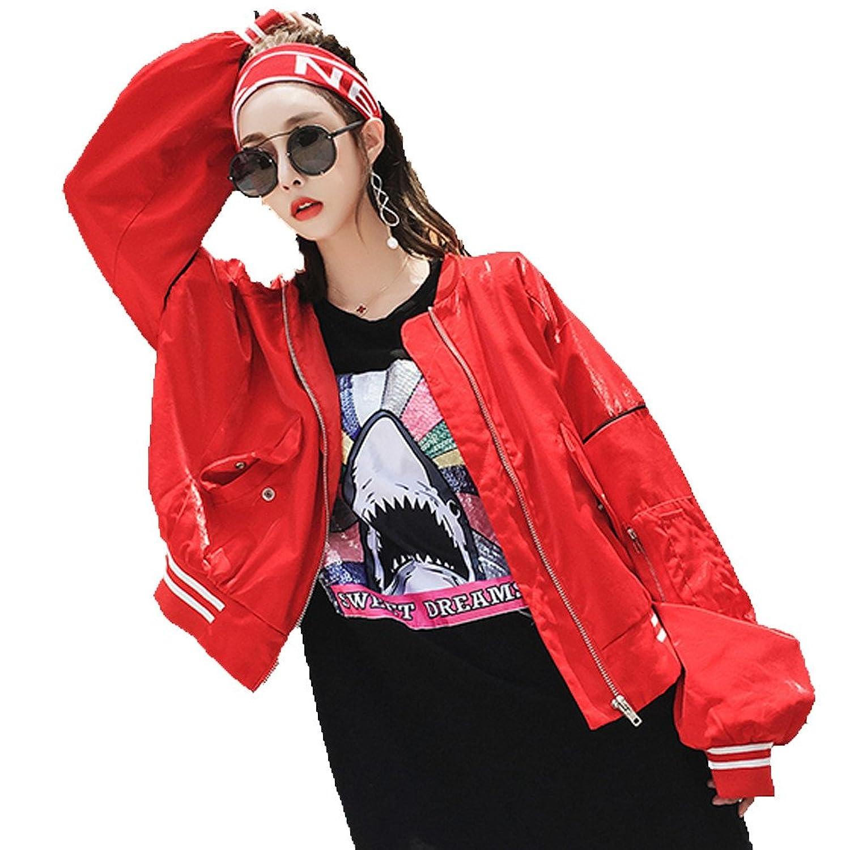 [美しいです] 春 秋 レディース コート 学生 ゆったり ファッション おしゃれ ジャケット ロングスリーブ 学院風 レジャー 原宿風 ハーバーウィンド BF風 レトロ 刺繍