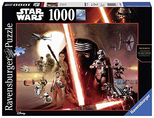 Ravensburger, Puzzle 1000 pezzi, Star Wars, Lucas Film, Lucasfilm, Puzzle da Adulti Starwars, Black Edition, 19549